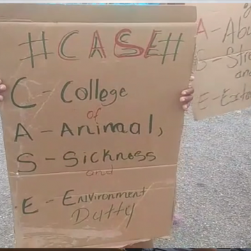 CASE Students Protesting Over Deplorable Living Conditions