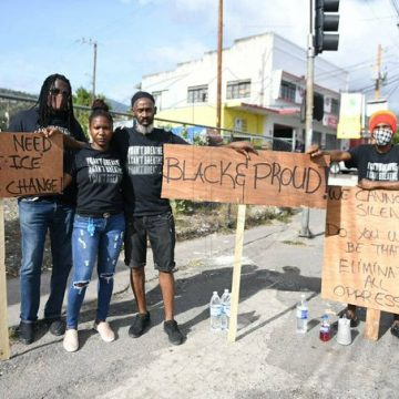 Jamaicans Rally In Front Of Us Embassy To Support Of Black Lives Matter Movement