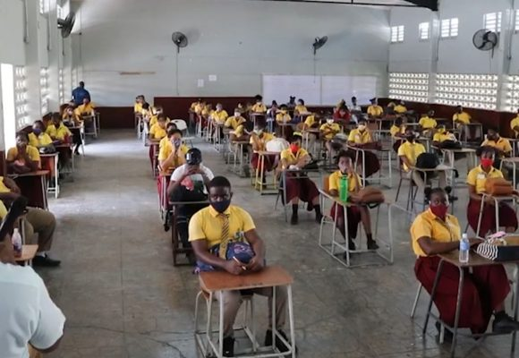 Social Distancing Worries On Day Two Of CSEC And CAPE Classes