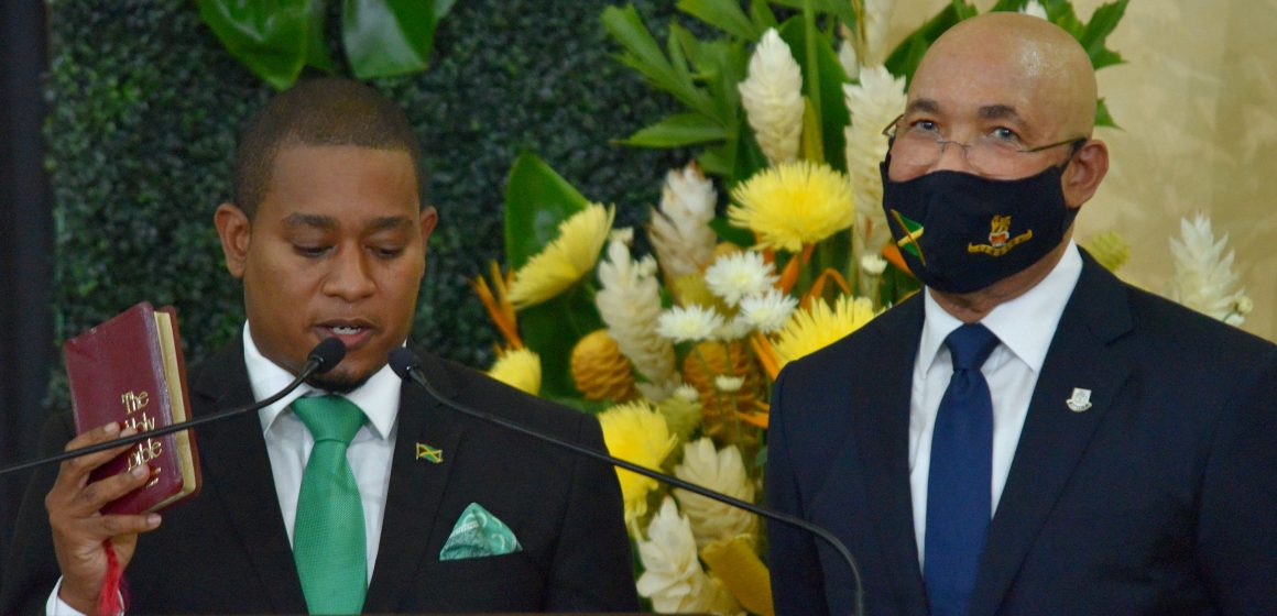 Cabinet Ministers Sworn In at King's House Jamaica
