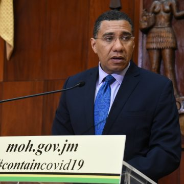 PM Holness Announces Extension Of COVID-19 Restrictions