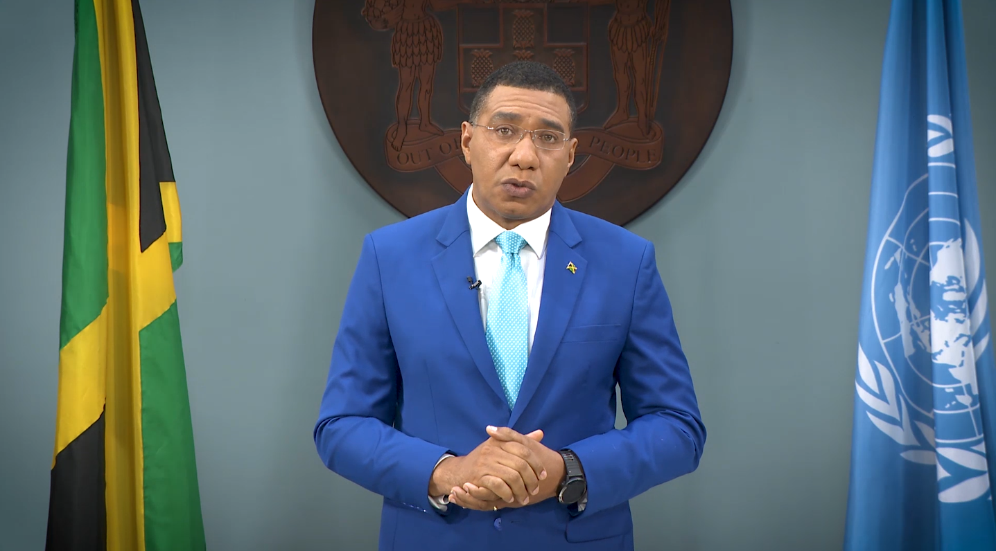 PM Holness Addresses UN General Assembly