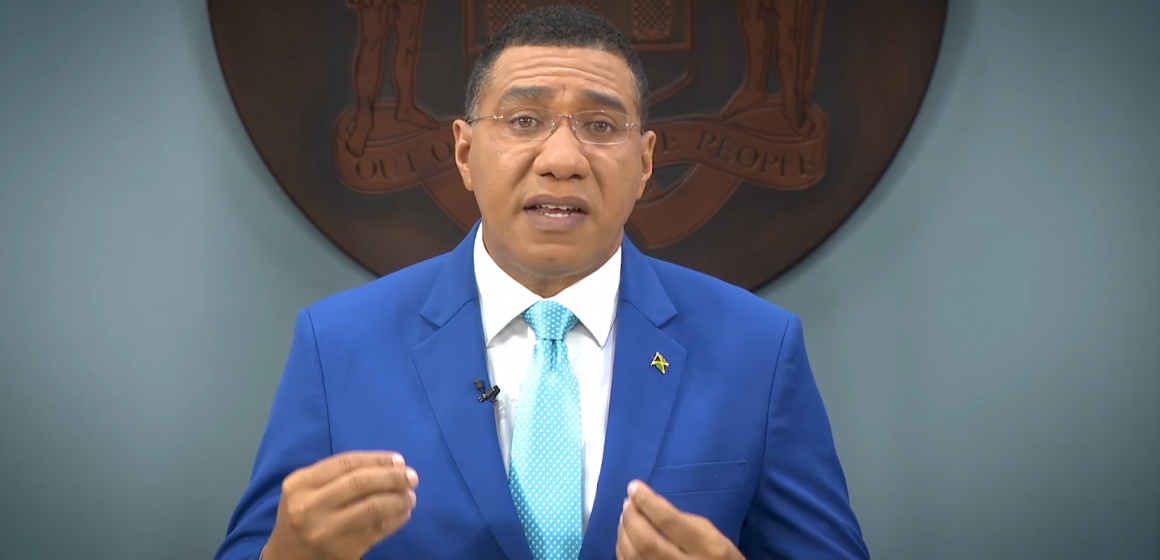 PM Holness Calls for A Global Recovery Plan