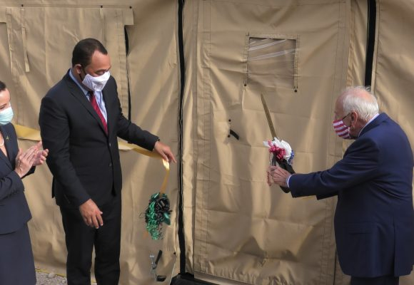 Jamaica Officially Receives First Field Hospital