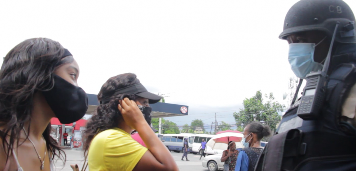 Mask Wearing Is The Order Of The Day In Spanish Town