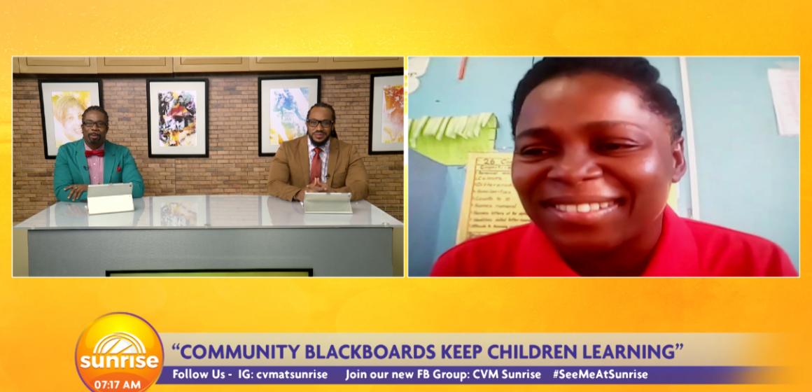 Teacher Starts Community Blackboard Initiative