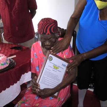 Jamaican Supercentenarian Represents Culture and History