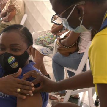 No Glitch At Vaccination Blitz At The Grand Bahia Hotel, St. Ann