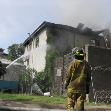 Fire Engulfs Building at Hydel Group of Schools