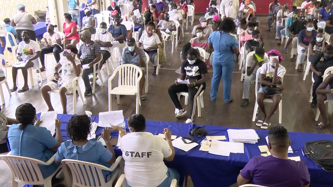 At Least 1000 Vaccinated at West Kingston Blitz