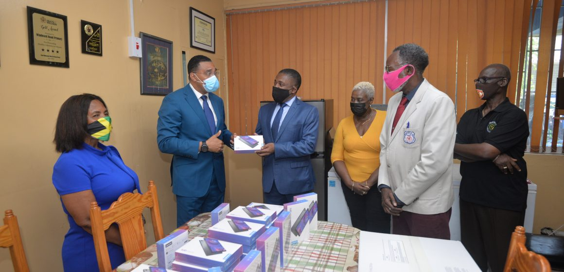 East Kingston and Port Royal Students Receive Tablets