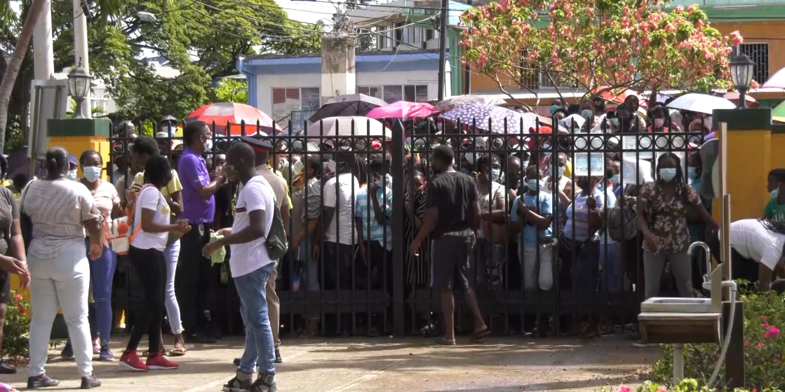 Rowdy Crowd, Man Arrested at St. Ann Vaccination Blitz Site